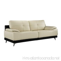 Divano Roma Furniture - Modern Living Room Leather Sofa (Beige) - B07B6H6K15