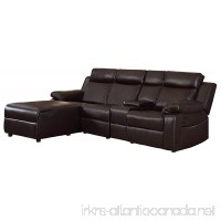 "Homelegance Dalal 102"" Reclining Sectional with Console  Brown - B077JS31MN"