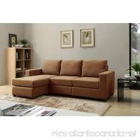 NHI Express Alexandra Convertible Sectional Sofa  Brown - B01KC1R1QW