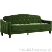 Novogratz Vintage Tufted Sofa Sleeper II (Green Velour) (Green Velour) - B01N8VOGRU