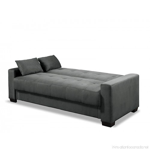 Microfiber Futon Folding Sofa Bed Couch Lounger Recliner Mattress /& Storage Dorm