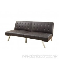 Poundex Bobkona Cleavon Faux Leather Adjustable Sofa  Espresso - B01NA7BEKH