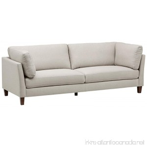 Rivet Midtown Removable Cushion Modern Sofa 92 W Cream - B072M1WJF2