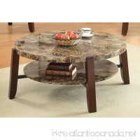 Acme Furniture ACME Lilith Faux Marble and Cherry Coffee Table - B01H3OU88E