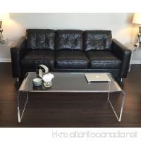 "Acrylic Coffee Waterfall Table Lucite 50"" long x 20 x 17 high x 3/4 thick new - B00NTIP5UK"