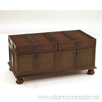 Ashley Furniture Signature Design - McKenna Coffee Table with Storage - Cocktail Height - Dark Brown - B002OTUS1G