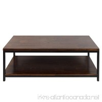 Casual Home Metro Coffee Table with Black Frame  Mocha - B01H4Y5CRA
