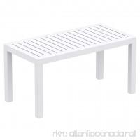 Compamia Ocean Rectangle Cofee Table White 069-WHI - B00QXZTKSE
