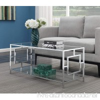 Convenience Concepts 135082 Coffee Table Clear Glass/Chrome Frame - B07DZWJ5D2