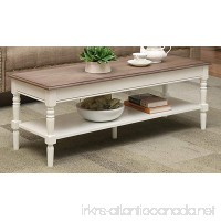 Convenience Concepts French Country Coffee Table  Driftwood / White - B073H3RJQS