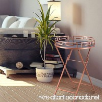 DecentHome Round Elegant Luxury Modern Accent Metal Coffee Side End Nesting Table Rose Gold - B077YWLZRH