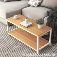 DlandHome Coffee Table TV Stand 39'' Rectangular Composite Wood Board Cocktail Table/Side Table/End Table/Sofa Table/Dining Table for Living Room TVST4-TW Teak 1 Pack - B078SPX5BP