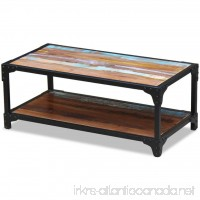 Festnight Vintage Rustic Coffee Table for Living Room Reclaimed Wood - B077M5HYZF