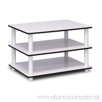 Furinno 11173 Just 3-Tier No Tools Coffee Table White w/White Tube - B006321XP0