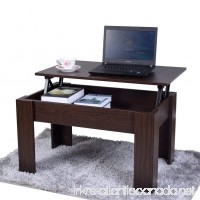 GLS Lift up Top Coffee Table Desk with Storage in Walnut Color - B01N21APJZ