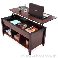 JAXPETY Lift Top Coffee Table w/Hidden Compartment and Storage Shelves Modern Furniture - B07B489BM5