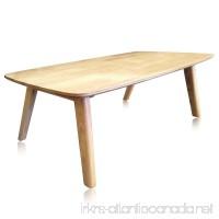 krei hejmo Solid Wood Coffee Tea Sofa Side Table (102-Rectangular  Natural Finish) - B01GRQV6AI
