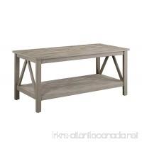 Linon 86151Gry01U Titian RusticCoffee Table 44 x 21.97 x 20 Gray - B00Y5ODVH6