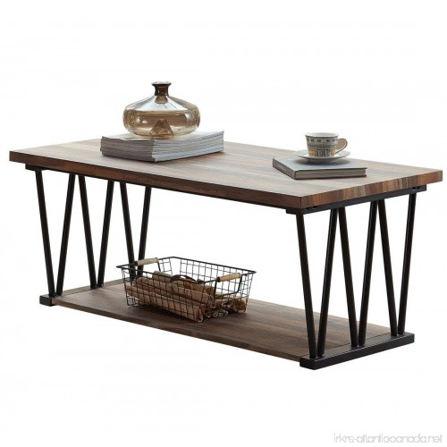 O Amp K Furniture Modern Industrial Cocktail Coffee Table With