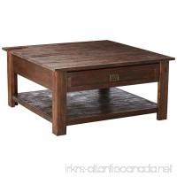 Simpli Home Monroe Solid Acacia Wood Square Coffee Table  Distressed Charcoal Brown - B01FXYB9Y8