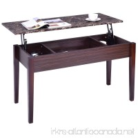 Tangkula Coffee Table Home Faux Marble Lift Top Storage Rectangular Cocktail Table - B078YMNGFB