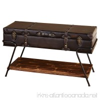 Target Marketing Systems Vintage Trunk Style Living Room Coffee Table With Lift Top Storage and Bottom Shelf  Brown - B072YVC929