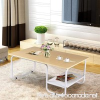 Yaheetech Modern Coffee Table with Lower Shelf for Living Room - B07CRVLQPB