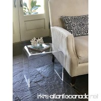 Acrylic End Table 17 inches high x 17 wide x 12 deep x 3/8 thick material - B00MAPOXAG