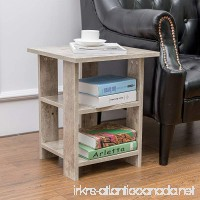 Alva House Grey Finish Chair Side Table End Table Coffee Table with 3-tier Shelf - B071ZVNX4P