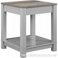 Ameriwood Home Carver End Table Gray/Sonoma Oak - B01N3MBCKT