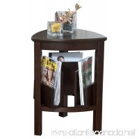 Ashley Furniture Signature Design - Larimer End Table - Chair Side Accent Table - Triangular - Dark Brown Finish - B00B11PH50