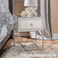 Athena Mirrored Silver 1 Drawer Side Table - B01N75DGIY