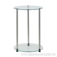 Convenience Concepts Designs2Go 2-Tier Round End Table - B00OJ2C2V0