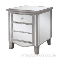Convenience Concepts Gold Coast Collection Park Lane Mirrored End Table Silver - B01CZWU8UC