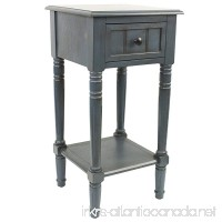 Décor Therapy FR1548 Simplify One Drawer Square Accent Table Antique Navy - B00OCVWQ5K