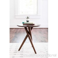 Edloe Finch - Gus Small End Table for Living Room - Mid Century Modern End Table - Round - Walnut Wood - B075XXS67M