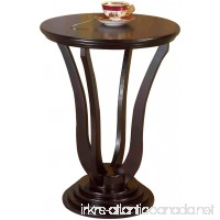 Frenchi Home Furnishing Round End Table Espresso - B005MR5JPW