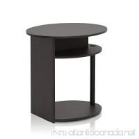 Furinno 15080WNBK Oval End Table Walnut - B01FX5CM8O