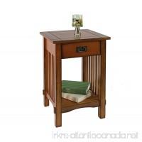 Furniture of America Liverpool 1-Drawer End Table Antique Oak - B008XEVTGO