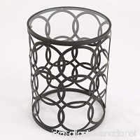 InnerSpace Luxury Products Barrel Table with Circles - B00C6730BG