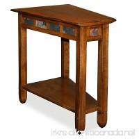 Leick 10056 Rustic Oak Slate Tile Recliner Wedge End Table - B006ZTI6Z6