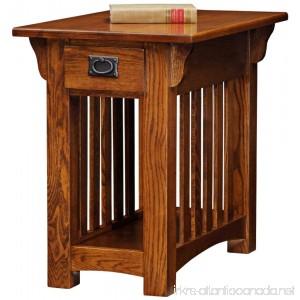 Leick Furniture Mission Chairside Table Medium Oak - B001OM2KWY