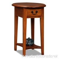 Leick Furniture Oval Side Table  Medium Oak - B0035DFDMO