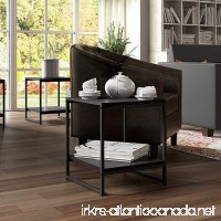 Madison Home Modern 16-inch Square Side Table/End Table/Coffee Table Brown - B01NBKD3R2