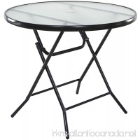"OneSpace Basics 34"" Round Folding Patio Table  Clear - B073SHQXF9"
