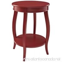 Powell Furniture Round Table with Shelf  Red - B00GM4QWRS