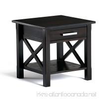 Simpli Home Kitchener Solid Wood End Table Dark Walnut Brown - B00KG88GU2