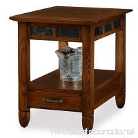 Slatestone Oak Storage End Table - Rustic Oak Finish - B006ZTIA16