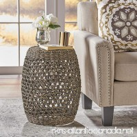 Teresa Coffee Finish Seagrass Wicker End Table - B079P4H21P