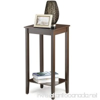 Topeakmart Wood Coffee Table Tall Bedside Nightstand Bedroom Living Room Sofa Side End Table Furnture Espresso - B01LVTUKNU